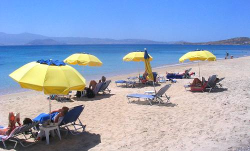 Agia Anna beach in Naxos Island Greece